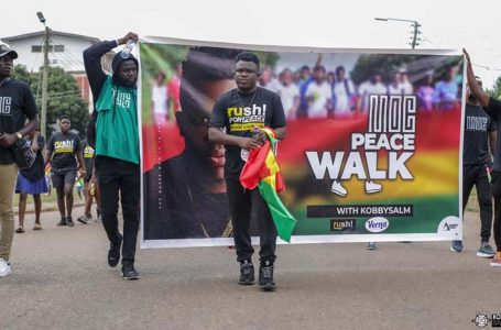 KobbySalm holds successful ITMOC Peace Walk ahead of album launch concert | Ghana Music